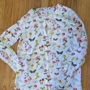 Equipment silk mushroom blouse, xs